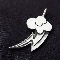 Silver Rainbow Dash pendant by TheSunkenCity on Etsy