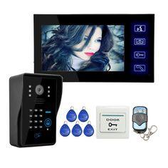 """Al por mayor Con Cable Tecla Táctil de 7 """"Teléfono Video de La Puerta Sistema de Intercomunicación 1 RFID Teclado Número de Código del Timbre de La Cámara 1 Monitor de ENVÍO GRATIS"""