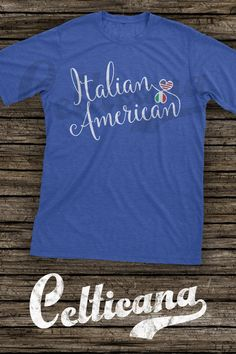 Italian American Entwined Hearts t-shirts.   This scripted typographic design features the flags of Italy and the US in entwined hearts. This design is available on a wide range of apparel, in unisex styles, and styles for men, women and kids. Here at Celticana we design ancestry, genealogy, country, state and city inspired t-shirts, hoodies and more. Wear the places you love!