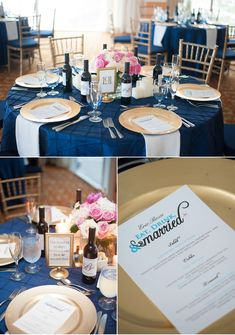 Pink and Navy Blue Beach Wedding in Florida