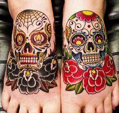 awesome dia de los muertos tattoos