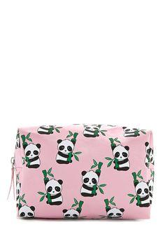 Panda Print Makeup Bag