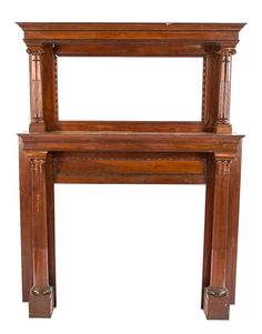 American Antique Fireplace Mantel Antique Victorian Tiger