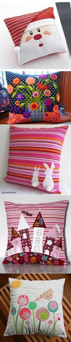 23 Clever DIY Christmas Decoration Ideas By Crafty Panda Cute Pillows, Diy Pillows, Decorative Pillows, Throw Pillows, Patchwork Cushion, Quilted Pillow, Christmas Sewing, Christmas Crafts, Christmas Ideas
