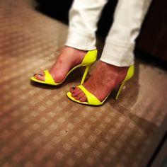 Neon yellow Windsor Smith heels