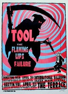 Tool - Flaming Lips~ classic heavy metal psychedelic  rock music poster  ☮~ღ~*~*✿⊱  レ o √ 乇 !! ~