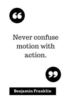 All motion is not action.