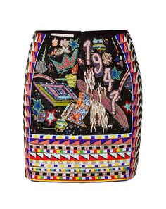 Pay homage to the incredibly chic look of Emilio Pucci with this statement-making beaded mini #Stylebop