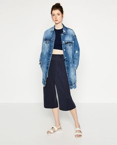 ZARA - WOMAN - CROPPED CROSSOVER TROUSERS