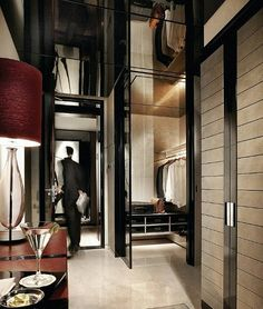 How glam! Mirrors above closet add space & light at Four Seasons Pudong Shanghai #room #spa
