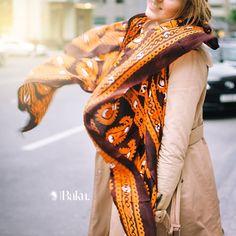 Silk scarf from Baku Corner in Baku Café #bakucafe #beatgroup #baku #azerbaijan #restaurants #cafe #cuisine #food #bakucorner #scarf #silkscarf
