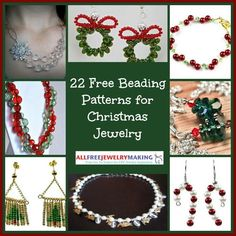 Adorn yourself for the holidays with 22 Free Beading Patterns for Christmas Jewelry!