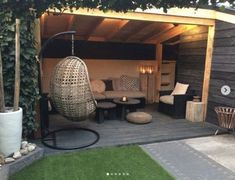 hinterhof garten 32 incredible and inspiring backyard storage shed design and decor ideas 3 Backyard Gazebo, Backyard Seating, Pergola Patio, Porch Gazebo, Pavers Patio, Modern Pergola, Backyard Pools, Cheap Pergola, Pergola Kits
