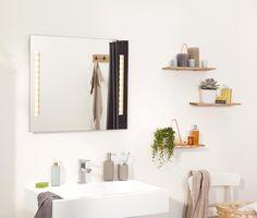 Osvetlené kúpeľňové zrkadlo Bathroom Medicine Cabinet, Floating Shelves, Mirror, Furniture, Home Decor, Products, Mirror Glass, Lighting, Decoration Home