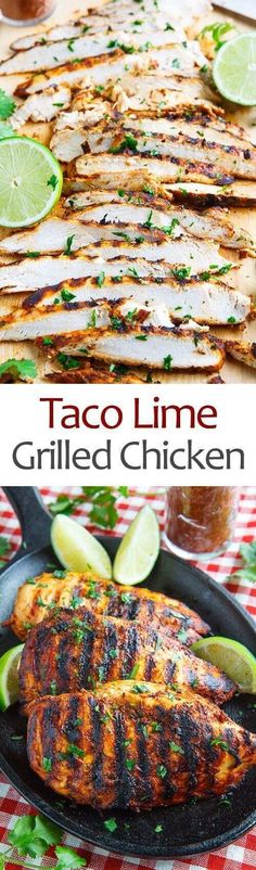 A quick and easy taco lime grilled chicken that's just packed with flavour! A quick and easy taco lime grilled chicken that's just packed with flavour! Cooking Recipes, Healthy Recipes, Advocare Recipes, Bbq Recipes Gluten Free, Sausage Recipes, Healthy Grilled Chicken Recipes, Fat Free Recipes, Grilled Food, Healthy Wraps