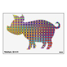 Psychedelia Pig Wall Decal