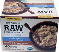 Betters Oats Organic Instant Raw Oatmeal 58.40, 58.40 Ounce - http://goodvibeorganics.com/betters-oats-organic-instant-raw-oatmeal-58-40-58-40-ounce/