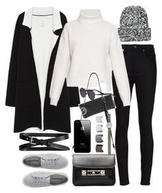 """Inspired outfit for winter in the city"" by whathayleywore ❤ liked on Polyvore featuring Topshop, Yves Saint Laurent, Zara, Proenza Schouler, Ray-Ban, Superga, Banana Republic, Christian Dior, Luv Aj and J.Crew"