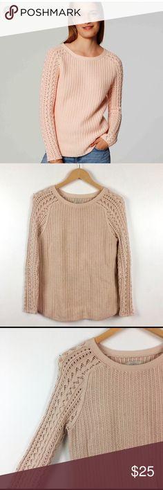 07dab29330 LOFT blush light pink cable knit sweater