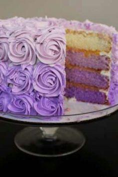 Graduated light lavender to purple