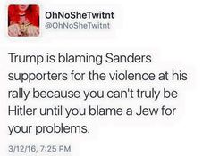 Funny Quotes About Donald Trump by Comedians and Celebrities: Donald Trump Blaming Sanders