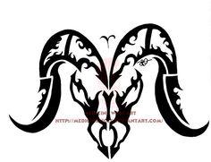 DeviantArt: More Like Aries Tribal by IkaikaDesign