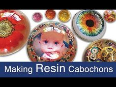 Photo Cabochons made with Resin, for jewelry, eyes, decor and more