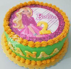 Barbie Cake #BarbieCake #GoldGreen #Love #Simple #ButterCake #FarooOwnDesign #FarooBakes #FarooZsBoutique