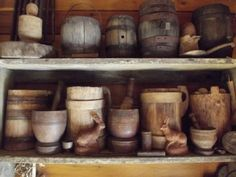 wonderful collection of early woodenware/treenware