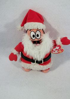 "Santa Patrick Star 7"" plush doll Squidward Spongebob Squarepants christmas"