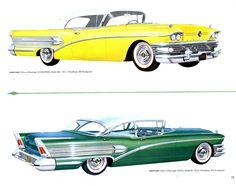 1958 Buick Century Convertible and Century 4-Door Sedan