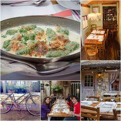 Casanova Restaurant, the most romantic restaurant in Carmel-by-the-Sea, California. Try their pate a choux, spinach gnocchi.