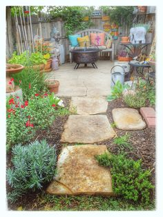 Firepit Garden Backyard Patio Fort Worth Texas DS48J