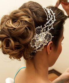 penteado de noiva com aramado - Pesquisa Google