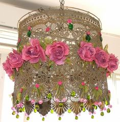 5 Simple Ideas Can Change Your Life: Lamp Shades Chandelier Shabby Chic painting lamp shades fun. Hanging Lamp Shade, Lamp Shades, Diy Hanging, Shabby Chic, Shabby Vintage, Vintage Lace, Chandelier Lamp, Chandeliers, Ceiling Lamp
