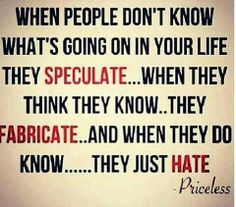 Haters they sure do ..