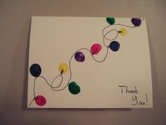 Home-made Christmas thank you card that my daughter made.  Fun, easy, and personal!