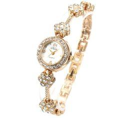 AMPM24 Fashion Women Lady Golden Crystal Bracelet Wrist Watch WK169A-1