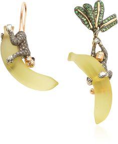 Bibi van der Velden Monkey On Banana 18K Rose And Yellow Gold, Sterlin