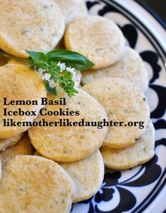 Lemon Basil Icebox Cookies - RECIPE; Yes, your child can use a knife ...