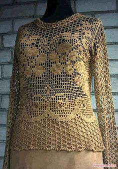 Irish lace, crochet, crochet patterns, clothing and decorations for the house, crocheted.This Pin was discovered by НатCollection Suede and openwork - Country MomGorgeous filet crochet - front of blouse Crochet Art, Crochet Woman, Irish Crochet, Crochet Patterns, Crochet Bolero, Crochet Blouse, Fillet Crochet, Irish Lace, Crochet Fashion