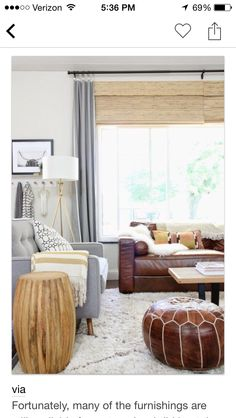 Sofa and blinds