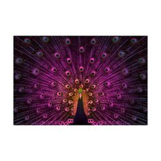 """Fantasy Feathers // Purple (16""""x24"""") by Sweet & Salty at Crush Collective - this piece of vibrant modern art is uniquely created by layering images captured on film and printing them on canvas, $150 !!"""