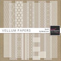 Vellum Papers Kit #1   digital scrapbooking
