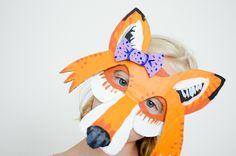 Project Nursery - DIY Cardboard Fox Mask