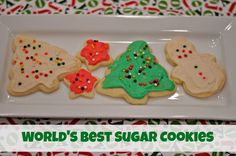 World's Best Sugar Cookies. Super soft and delicious!  Great cookies to make with kids!