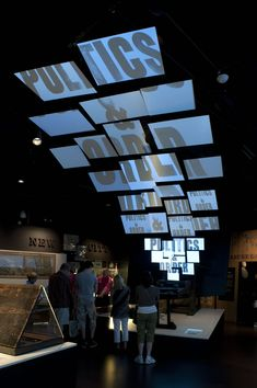 screen display that wraps ceiling and wall