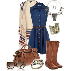 Simply a Cowgirl, created by ambiegirl on Polyvore