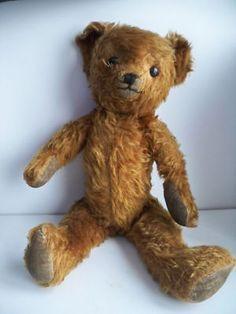 "Vintage Very Old 18"" Stuffed Teddy Bear"