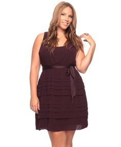 Plus size Graduated Pintuck Dress  $22.80